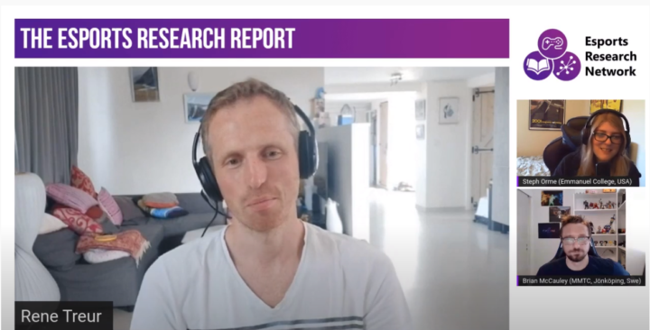 Shoutcasting, Commentating & Broadcasting Esports with Rene Treur. Episode 22 of the Esports Research Report